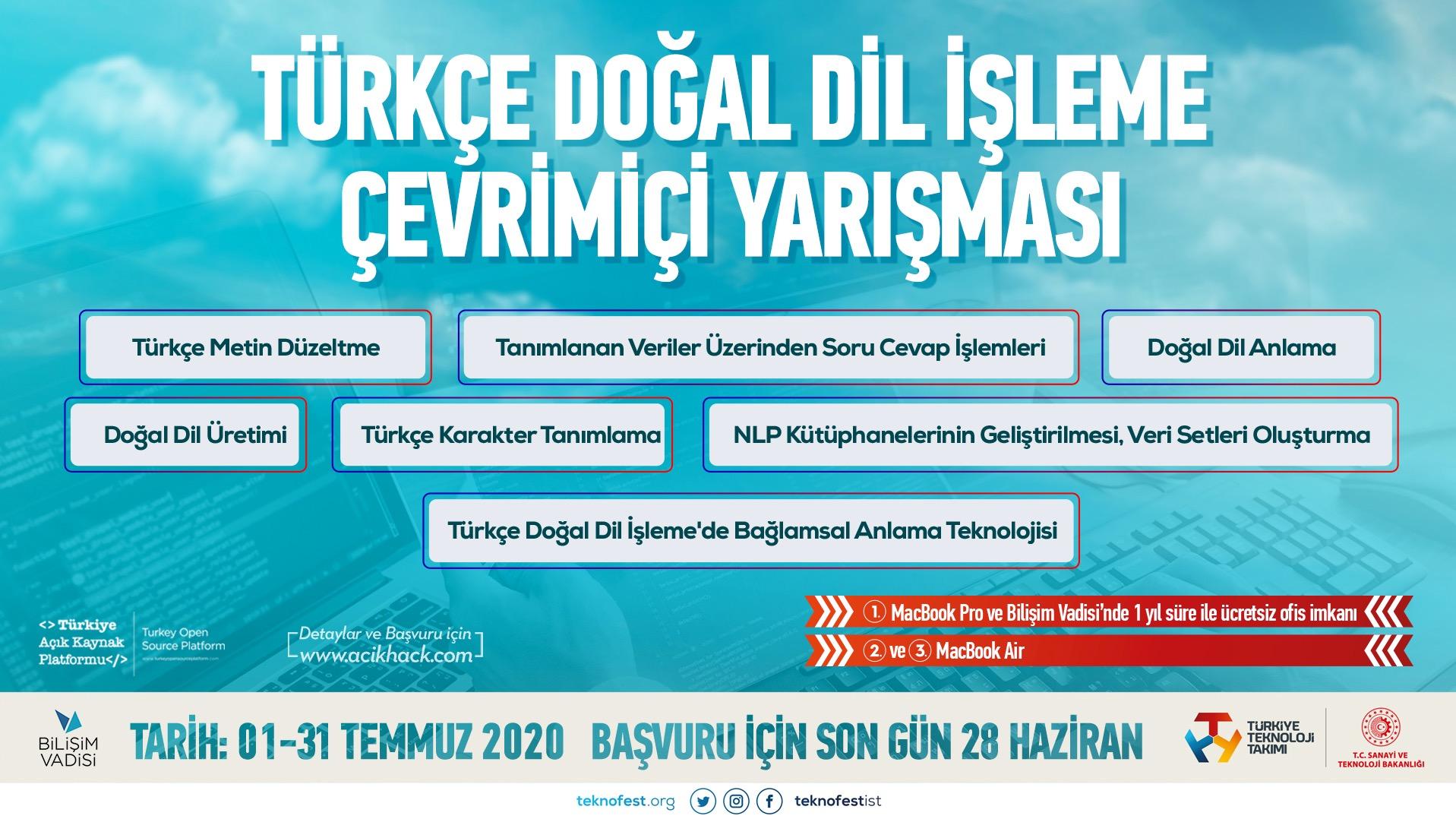 Online Yarışma: Türkçe Doğal Dil İşleme